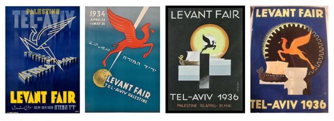 Plakate für die Levant-Messe