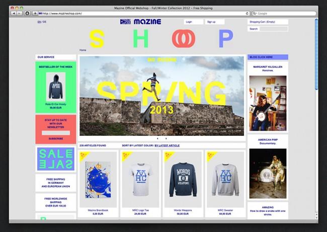 Mazine – Webshop