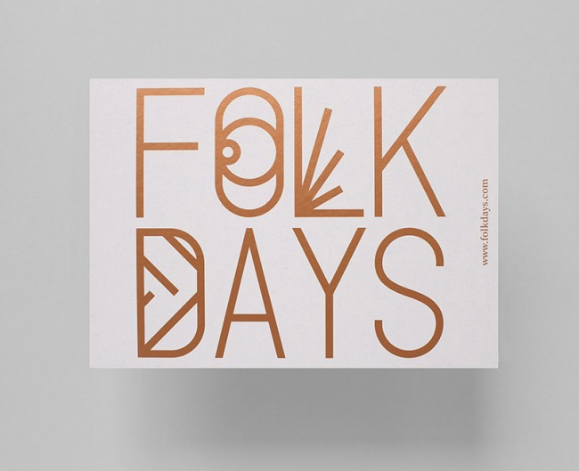 Folkdays Postcard