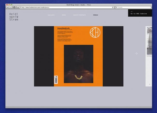 Heidi Winge Strøm – Website