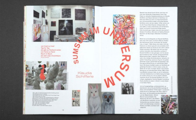 Verlag für moderne Kunst – Editorial Design