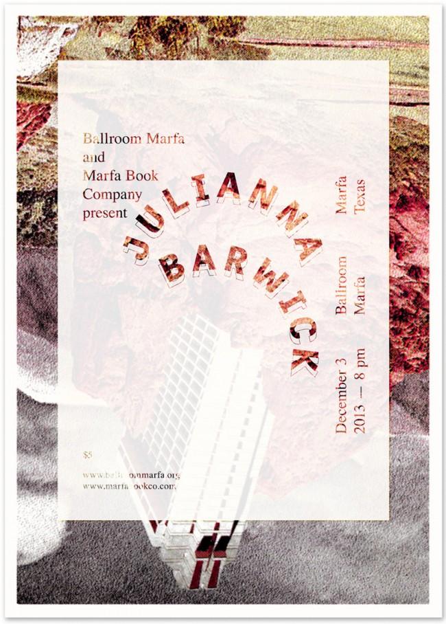 »Julianna Barwick« at Ballroom Marfa, December 2013