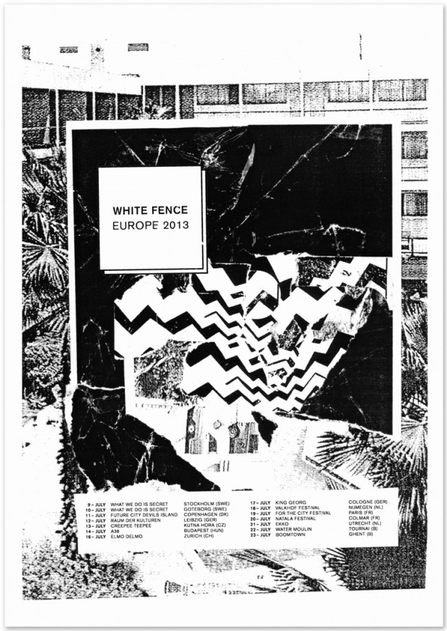 »White Fence« Europe Tour 2013, June 2013