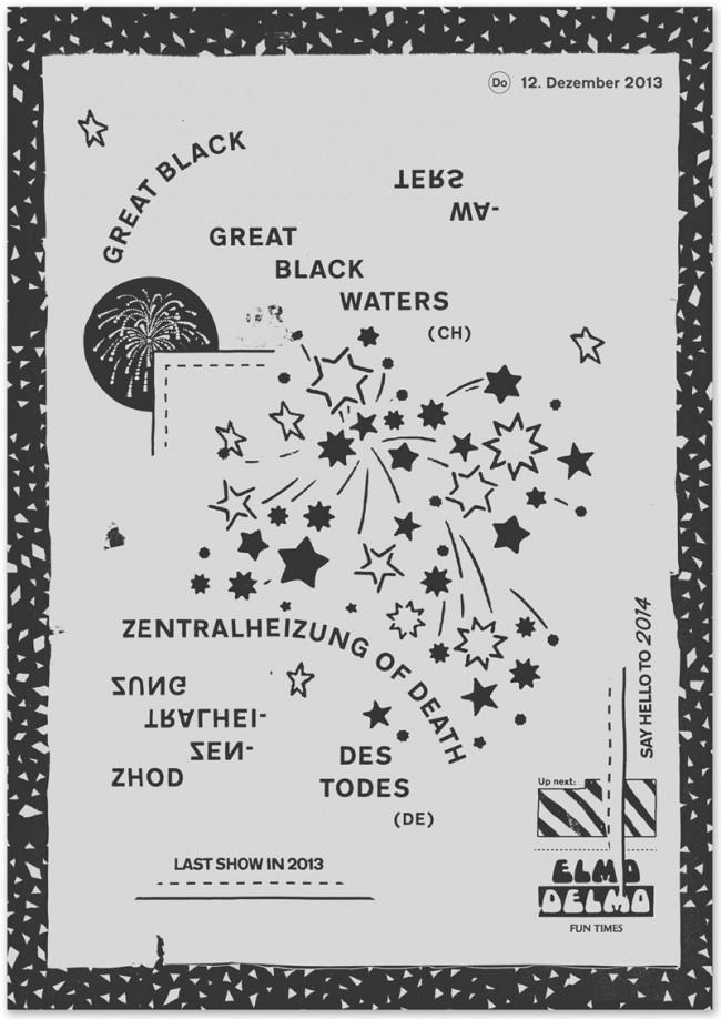 »Great Black Waters / Zentralheizung Of Death Des Todes« at Elmo Delmo Zurich, December 2013