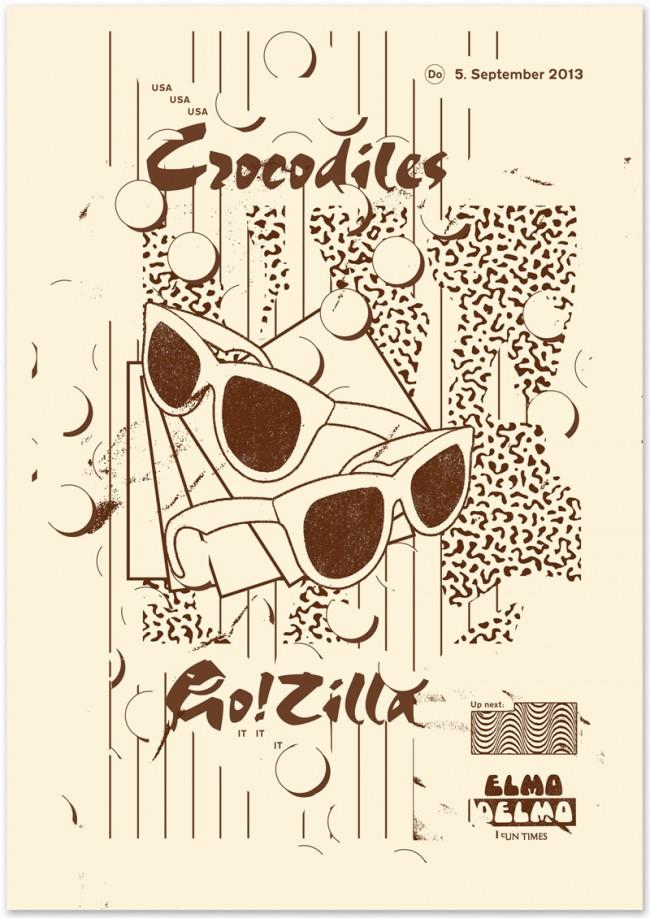 »Crocodiles / GoZilla« at Elmo Delmo Zurich, September 2013