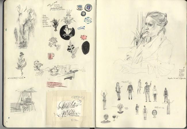 Skizzenbuch – Ausschnitt aus einem meiner Skizzenbücher