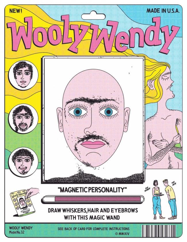 Wooly Wendy – Eine der Illustrationen für einen Artikel über die soziale Akzeptanz von Körperbehaarung für VICE