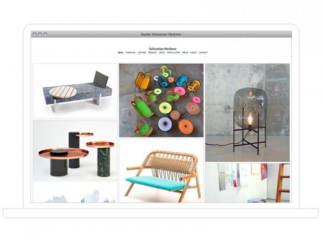 Sebastian Herkner, Webdesign