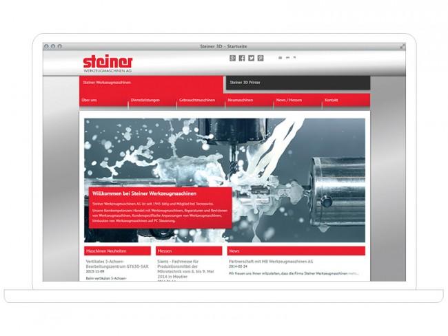 Steiner Werkzeugmaschinen, Webdesign
