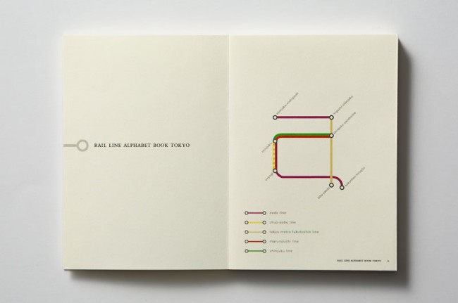Rail Line Alphabet Book Tokyo