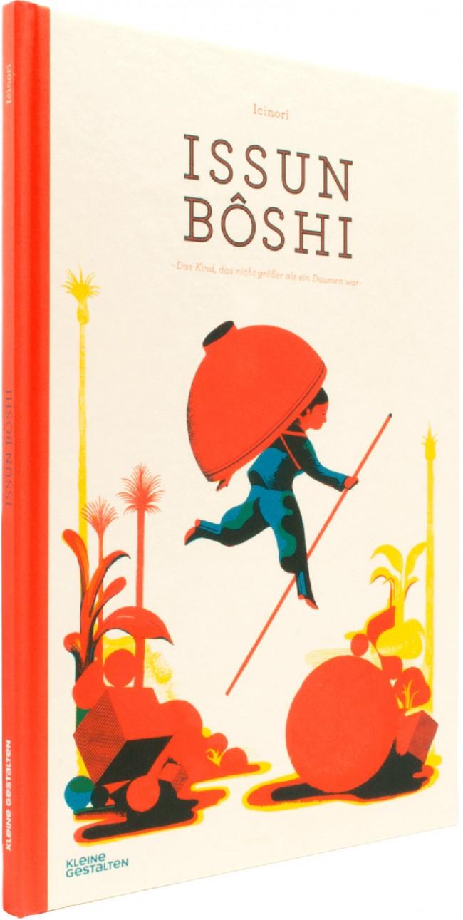 Icinori: Issun Bôshi. Das Kind, das nicht größer als ein Daumen war. Berlin (Kleine Gestalten) 2014, 32 Seiten. 14,90 Euro. 978-3-89955-719-0. Für Kinder von 3 bis 8 Jahren