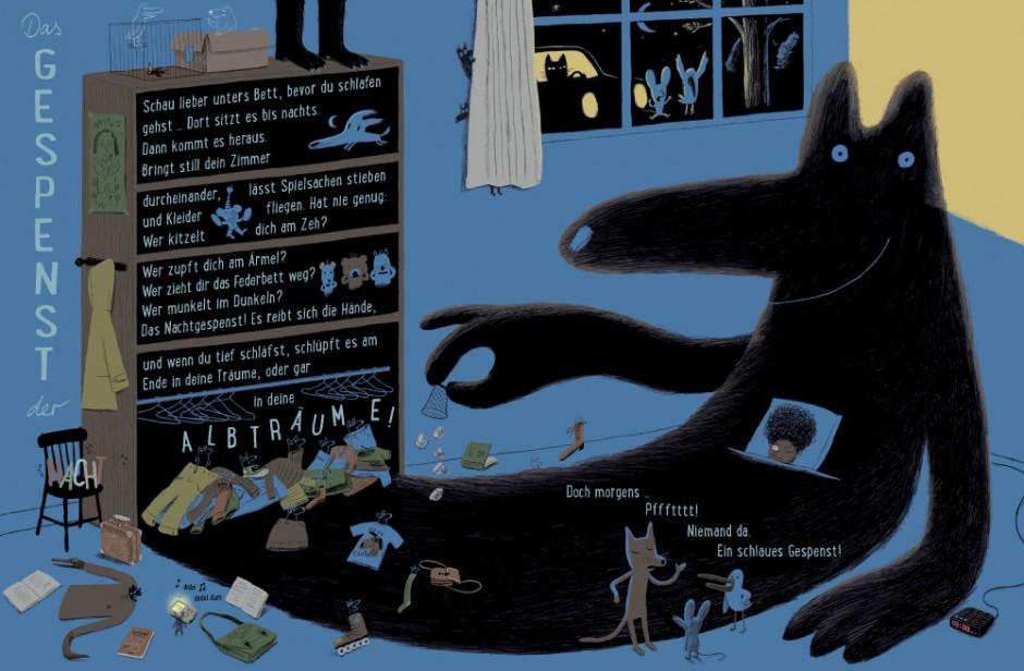 Sonia Goldie & Marc Boutavant: Kleine Hausgeister. Berlin (Kleine Gestalten) 2014, 40 Seiten. 14,90 Euro. 978-3-89955-717-6. Für Kinder von 3 bis 8 Jahren