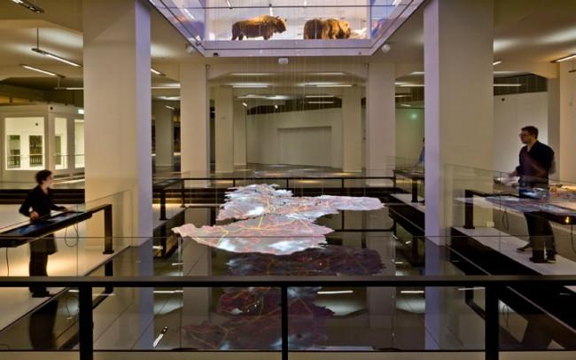 smac – Staatliches Museum für Archäologie Chemnitz, Zeitdynamisches Sachsenmodell Foto: Michael Jungblut