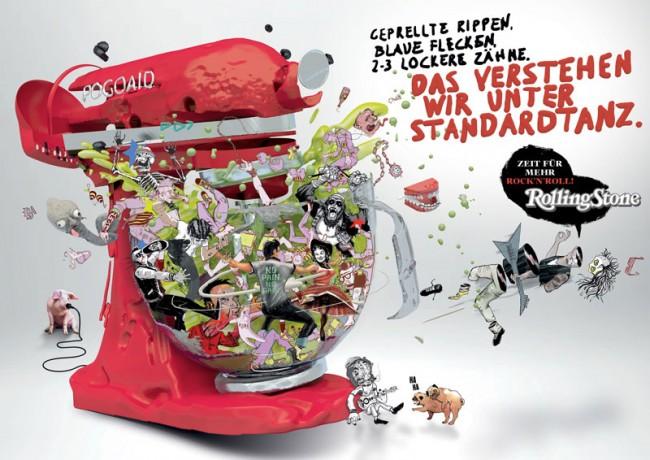 Kampagne für den »Rolling Stone« von Oliver Voss. 3D-Art Direction: Andreas Martini@UPPERORANGE