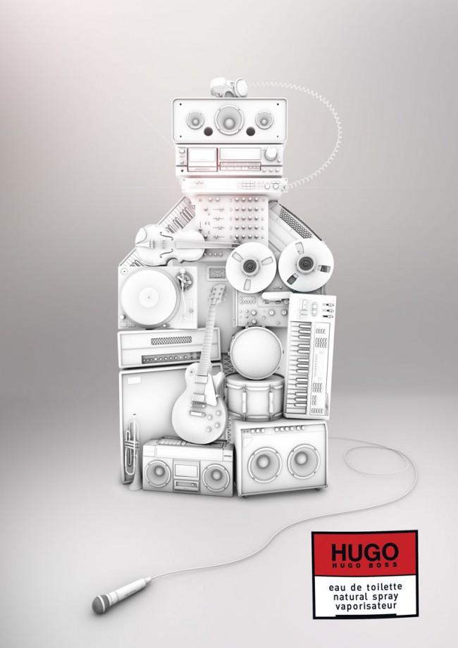 HUGO Create | Design Contest (eingereichter Beitrag): 3D-Illustration