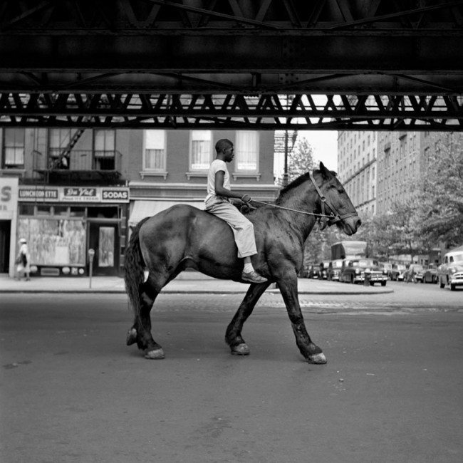 African-American Man on Horse NYC