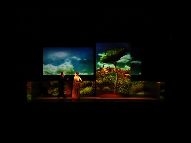 Mapped Video Projections für »La Celestina« von Fernando de Rojas
