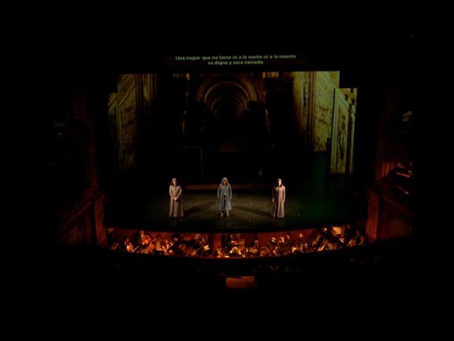 Mapped Video Projections für die Oper »La Flauta Magica« von Mozart