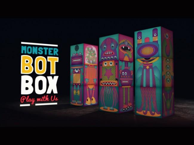 Monsterbot Box | Clip für die Eigenpromotion der Free Printable Papertoys
