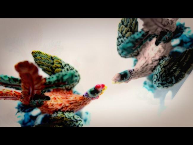 Video Projections für »Supercrisol« von Los Macocos