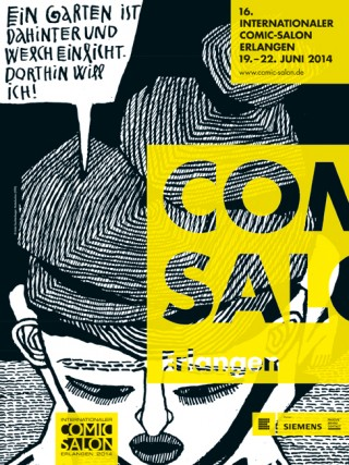 Comic-Salon Erlangen Plakat Motiv: Anke Feuchtenberger, Mutterkuchen (1995)