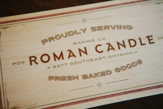 Logodesign für Roman Candle Baking Company