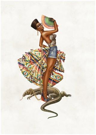 African Pin-ups