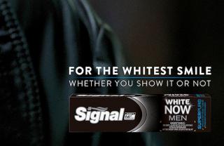 Print-Kampagne für Signal-Zahnpasta »Men who don't smile«