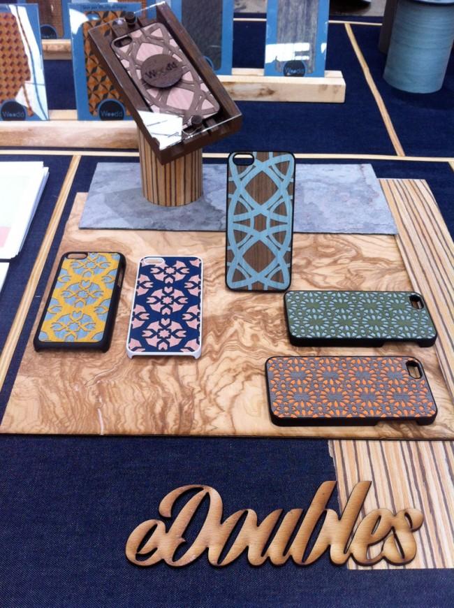 Handyhüllen-Handwerkskunst von Wood'd, eine der Entdeckungen