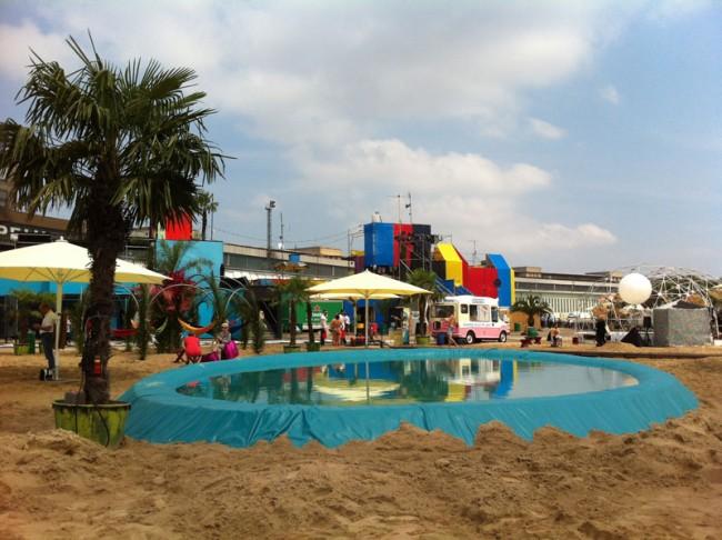 Kleine Copacabana im Bread & Butter Luna Park