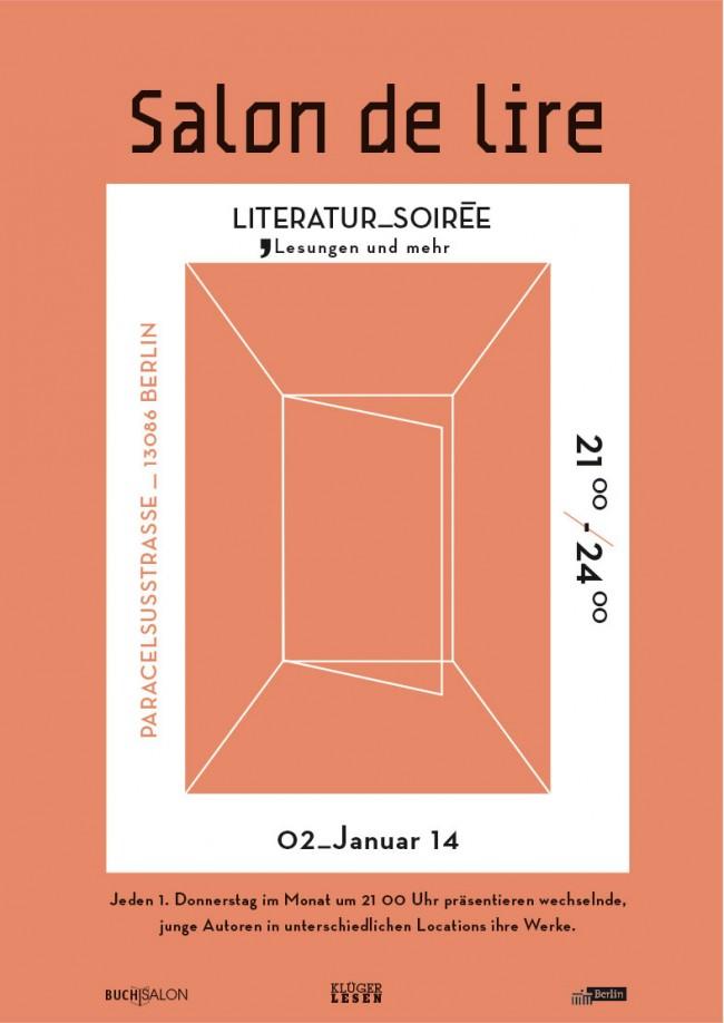 Entwicklung eines Logos und einer 5-teiligen Plakatserie für die Eventreihe »Salon de Lire«