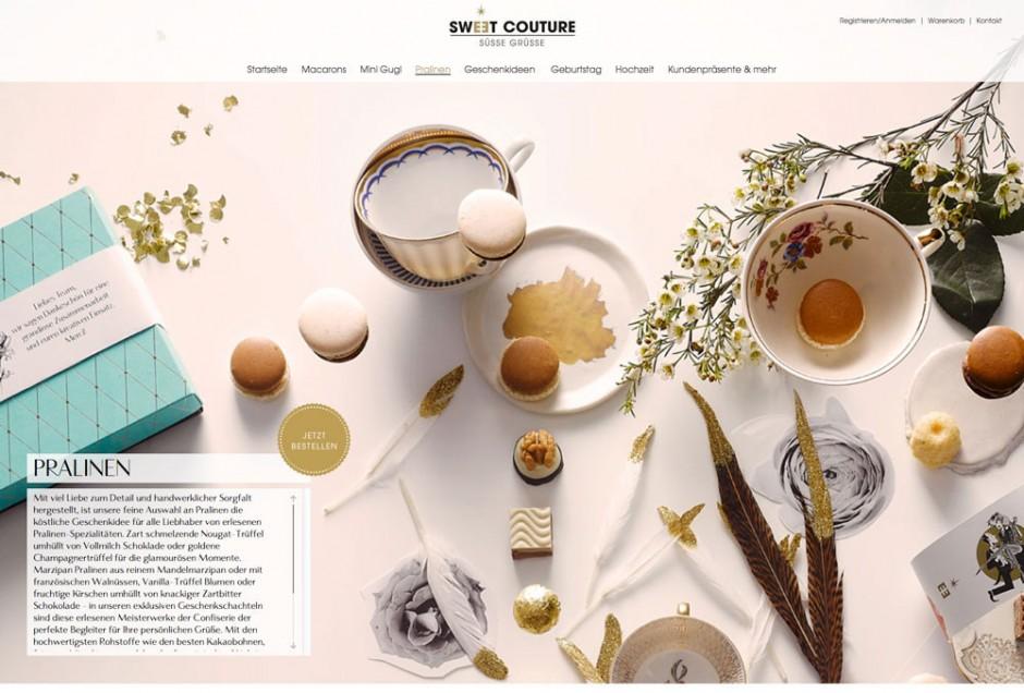 Entwicklung eines Corporate Designs für den Online-Handel »Sweet Couture«
