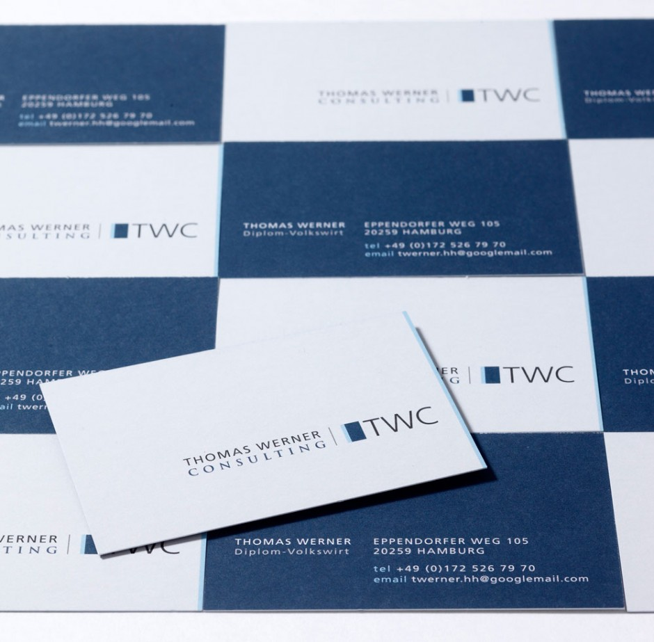 Geschäftsausstattung für TWC Consulting und Gestaltung einer hochwertigen Weihnachstkarte
