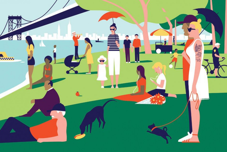 Ben Wiseman, 2012, »Sunday in the Park«, The New York Times; digital