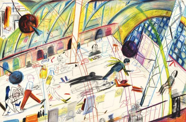 Yann Kebbi, 2013, »Falling in Love with Cement«, Dorade; pencil