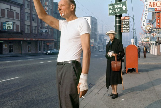 Fred Herzog: Man with Bandage, 1968. Courtesy of Equinox Gallery, Vancouver