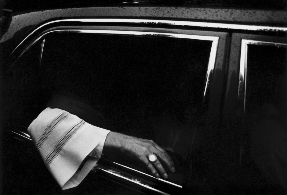 Kardinal in seinem Dienstwagen, 1989, Köln, Deutschland