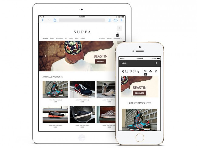 Suppa Ecommerce, responsive