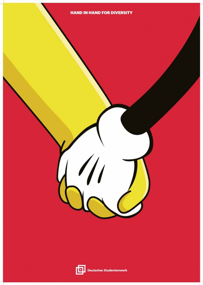 1. Preis: »Hand in Hand for Diversity I« von Nam Do Hoai, Fachhochschule Düsseldorf