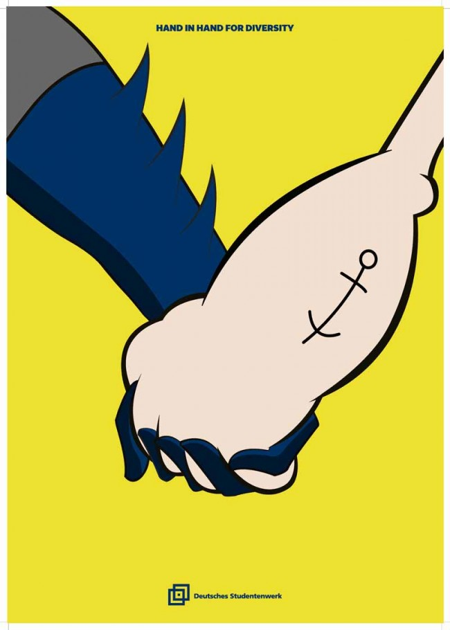 1. Preis: »Hand in Hand for Diversity II« von Nam Do Hoai, Fachhochschule Düsseldorf
