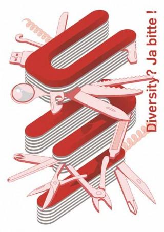 3. Preis: »Diversity Uni« von Xi Luo, Hochschule für Gestaltung Offenbach am Main