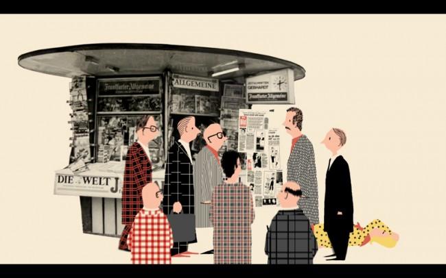 Stills aus »Bild-Lilli«, Beitrag für die Sendung karambolage/arte