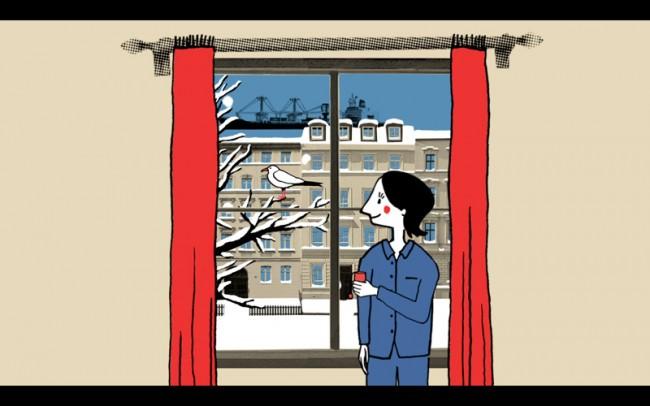 Stills aus »Schneeschippen«, Beitrag für die Sendung karambolage/arte