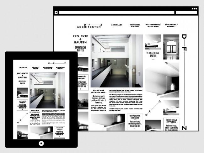 Website DFZ Architekten