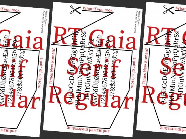 RT Gaia Serif Promo Poster