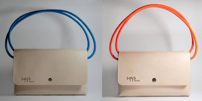 »Syys_Berlin, Syys_Москва« Clutches handmade in Berlin mit Schrift »SyysScript«