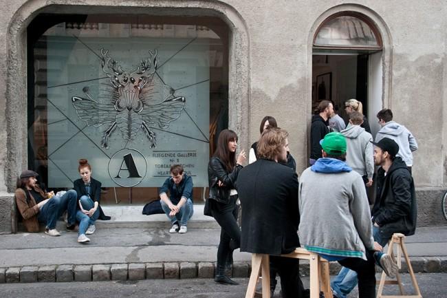Fliegende Galerie in der Artillerie Wien