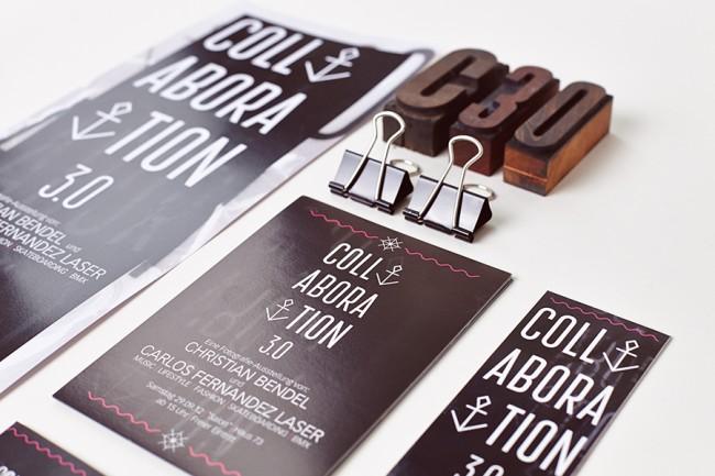 Corporatedesign für die Ausstellungsreihe Collaboration