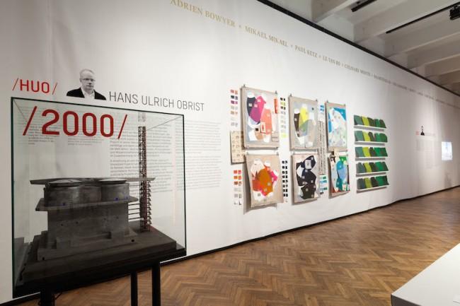 Auswahl Hans Ulrich Obrist Im Vordergrund: Peter Noever, Sepp Müller, Michael Embacher Modell (1:140) Projekt CAT – Contemporary Art Tower, Österreich, Wien, 2009