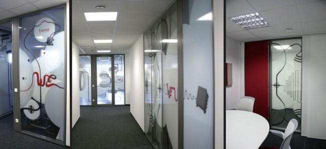 80 qm Wandgestaltung des Würth Designcenters in München